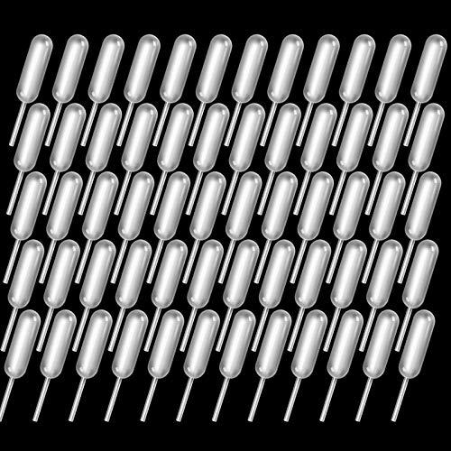 Strawberry Pipettes, 60PCS Teenitor Liquor Injectors Plastic Pipettes Squeeze Dropper Disposable 4ml Mini Flavor Injector for Chocolate Strawberries Ice Cream Mini Cakes
