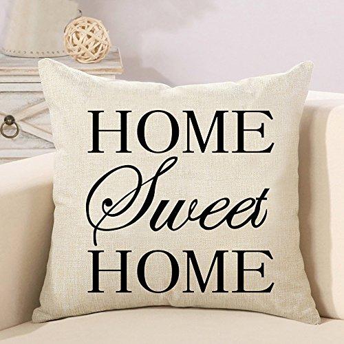 Federa per cuscino decorativo Home Sweet Home con scritta stampa stampata divano Custodia Cuscino decorativo Fall tenuta Bar–Federa Cuscino peluche di soggiorno