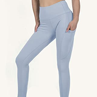 Yoga Pants with Pockets Womens Non-slip Four-way Stretch Breathable Skin-friendly Soft Tight Running Pants