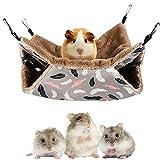 SDFFA Hamster Mascota Hamaca,Accesorios Hamacas Jaulas Mascotas,Hamaca Cálida Animales Pequeños,Hamaca Jaula Mascotas,con Anzuelo,Apto para Chinchillas,Loros,Hurones,Hamsters,Ardillas para Descansar