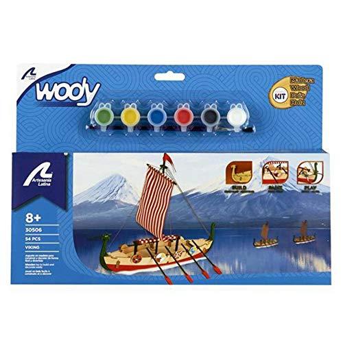 Artesanía Latina 30506 - Modell aus Holz: Wikingerschiff Drakkar. Für Kinder +8