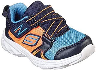 Skechers Boy's Eclipsor-Swift Blast NVY/Orng Sneakers-5 UK (38 EU) (6 Kids US) (95021N-NVOR)