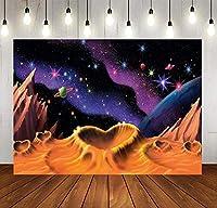 新しい宇宙の星空の背景魔法の妖精のシーン砂漠の空の写真の背景女の子の誕生日パーティーの背景写真10x7FTパーティー用品MSDZY394