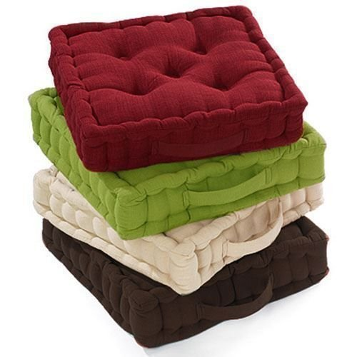 AmigoZone 100% Cotton Covered Booster Cushion Thick Seat Pads Adults Chair/Armchair/Garden Chair (Chocolate, 1)