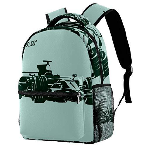 Mochila escolar de 16 pulgadas para estudiantes, bolsa de viaje, básica, para portátil, para karting