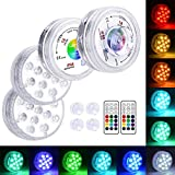 LOFTEK 13 LED Submersible Lights Remote Control with Suction Cups...