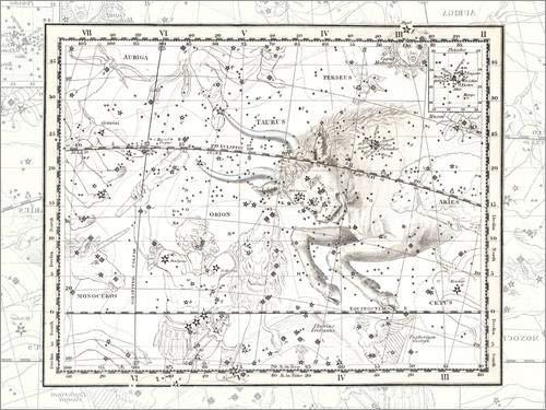 Lienzo 40 x 30 cm: Orion and Taurus Platte 14 de Alexander Jamieson - Cuadro Terminado, Cuadro sobre Bastidor, lámina terminada sobre Lienzo auténtico, impresión en Lienzo