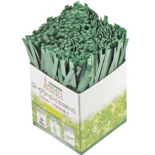 ガーデンフレンズ ガーデンタイ 1000本 緑色 10cm