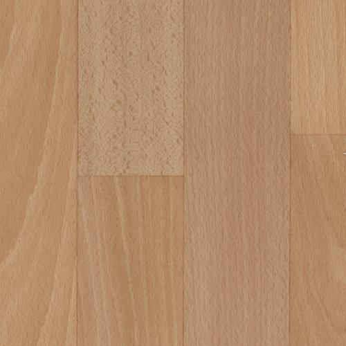 BODENMEISTER BM70517 Vinylboden PVC Bodenbelag Meterware 200, 300, 400 cm breit, Holzoptik Schiffsboden Buche hell