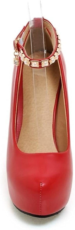 Garyline Women Fashion Platform Stiletto Pumps High Heels shoes Ankle Strap