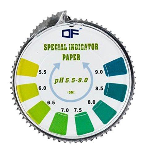 XLKJ Rotolo di Strisce di Carta per Test,PH Indicatore Rotolo Strisce Carta PH 1-14 Che la Carta in Rotolo 5 metri