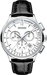 Movado Circa Watch for Men - Analog Leather Band - 0606575