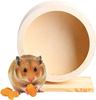 Vonarly ハムスター回し車 木製 サイレントホイール 小動物用 おもちゃ 運動不足解消 直径15cm/21cm 2サイズ選択可
