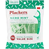 Plackers Micro Mint Dental Floss Picks, 150 Count (Pack of 3)