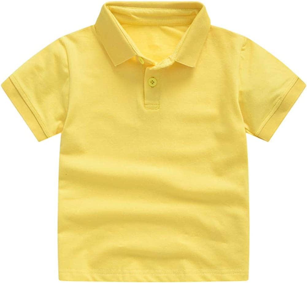 TENMET Toddler Boys Polo Shirts Short Sleeve Button Tops for Boys 1-6 Years