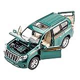 YN モデルカー Suv合金車モデルプラド1:32引き戻す車コレクション趣味家具装飾子供ホリデーギフト ミニカー (Color : GREEN)