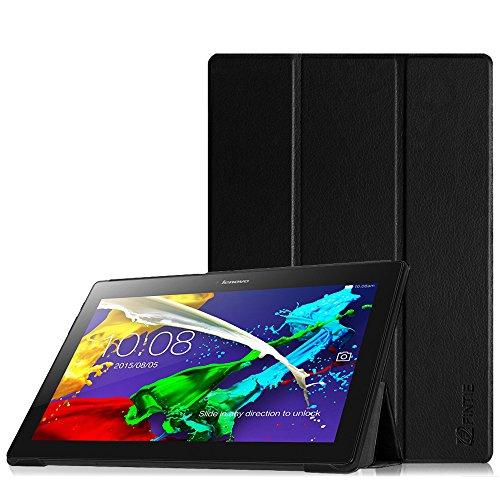 Fintie Hülle Hülle für Lenovo Tab 3 10 Plus/Tab 3 10 Business/Tab 2 A10 - Folio Kunstleder Schutzhülle Tasche Etui für Lenovo Tab 10 / Tab 2 A10-30 10,1 Zoll Tablet, Schwarz