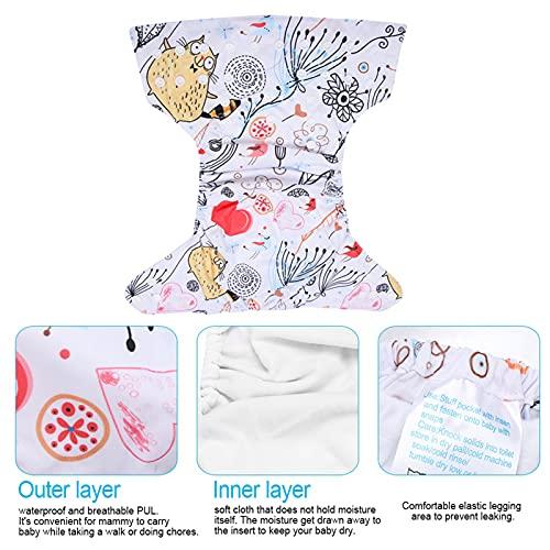 CHICIRIS Pañal Lavable para bebés, Pañal para Nadar para bebés Elástico Cómodo para Llevar a su bebé para Llevar al bebé(BL017)