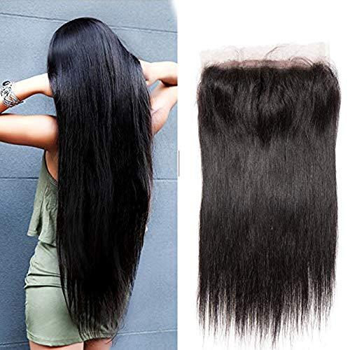 Closure Bresilienne Lisse Lace Frontale Closure 100% Cheveux Humains Naturels 4\