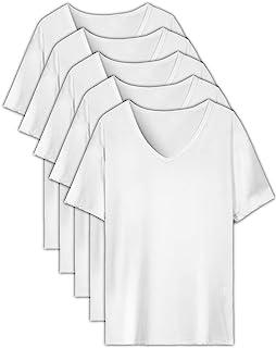 EASY-MODE-T インナーシャツ メンズ 肌着 5枚組 半袖 Vネック 防菌防臭 白 クセになる肌触り