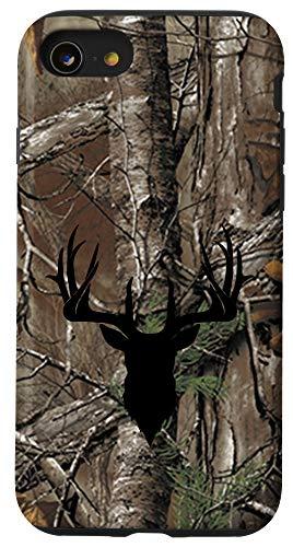 iPhone SE (2020) / 7 / 8 Deer Hunting Black Brown Tree Camo Camouflage Case