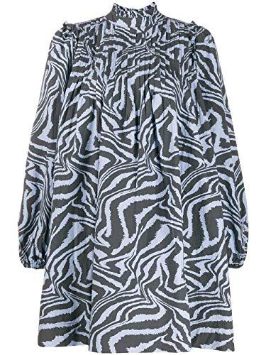 Luxury Fashion   Ganni Dames F4328681 Donkerblauw Katoen Jurken   Lente-zomer 20