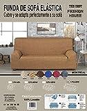 the best fashion house Funda de Sofa Elastica Universal Modelo Montreal Disponible en 4 tamaños y 6 Colores (Marron, Sofa 4 plazas)