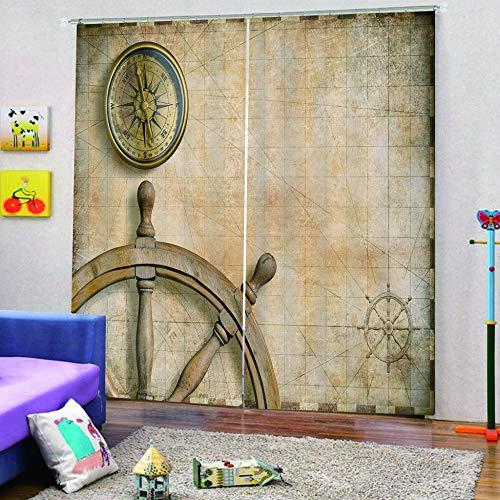 Cortina Opaca 280X250 Cm Timón De Reloj Cortinas Opacas Resistente Al Calor Y La Luz para Salón Dormitorio Cortina Y Suave para Oficina Moderna Reducción De Ruido
