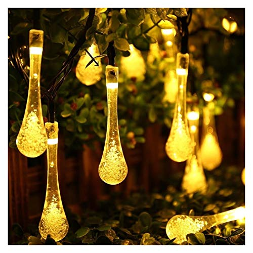 XYACM Garden Solar Lights, Outdoor String Lights Garden Crystal Ball Decorative Lights Waterproof Indoor Outdoor Fairy Lights for Garden, Patio, Yard, Christmas (Color : Yellow, Size : 6.5m)