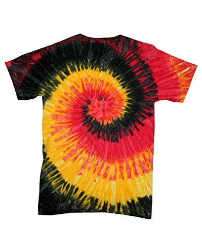 Camiseta de manga corta 123t con diseño de arcoíris realizado mediante la técnica de teñido anudado (en varios colores), tallas S, M, L, XL y 2XL Kingston Large
