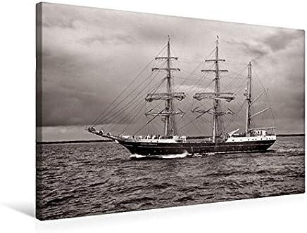 Grande seglatore Alexander v. Humboldt II Prima di Warnemünde, Hanse Sail 2013, 75x50 cm
