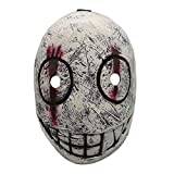 Dead by Daylight Creepy Smile Legion Frank Morrison Cosplay Latex Mask Halloween Horror Crazy Music Festival Cosplay Masquerade Party Game Headgear Props, White
