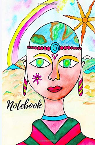 Hand Drawn Classic Blank Notebook: Premium Hand Drawn Cover, Notebook for Writing, Drawing, Sketching, Doodling, 100 Pages, 5,25x8 in.
