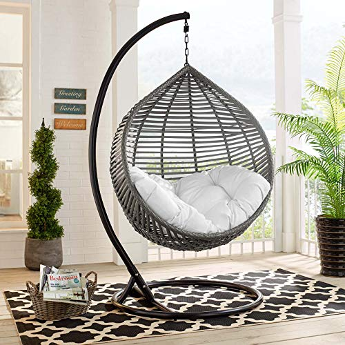 Wicker Rattan Egg Swing Chair