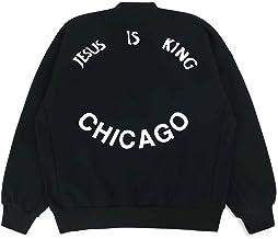NAGRI Kanye Jesus is King Sweatshirts Chicago Graphic Letter Print Long Sleeve Hip Hop Hoodie