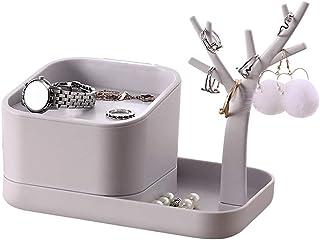 Caja de Almacenamiento de Cosméticos Joyería de la joyería caja de joyería pendientes pendientes caja de almacenamiento pe...