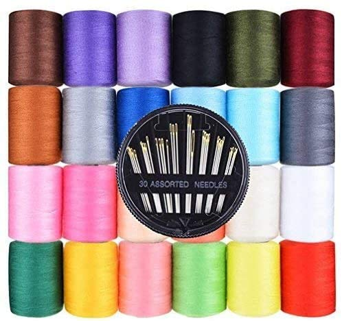 Candora 24 Pcs 1000 Yards Super sale period limited Polyester wi Thread Spools Sewing List price Each