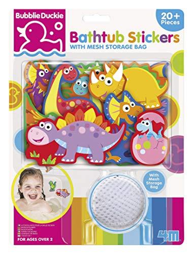 4M Dino Foam Bathtub Stickers with Mesh Bag