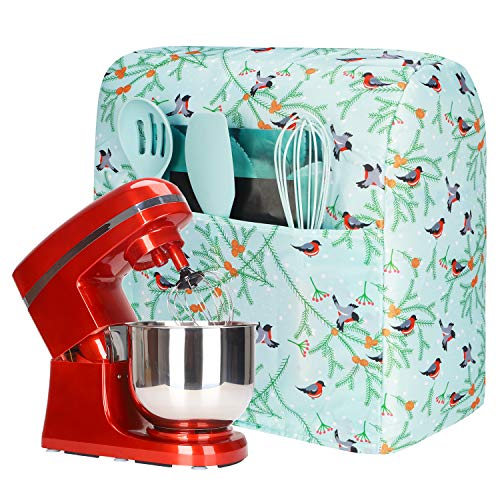 Pioneer Woman Standmixer-Abdeckung mit Tasche und niedlichem Druck, Küchenzubehör, Kitchenaid Mixer-Abdeckung, kompatibel mit Kitchenaid und Hamilton Mixern, Staubschutz für kleine Geräte