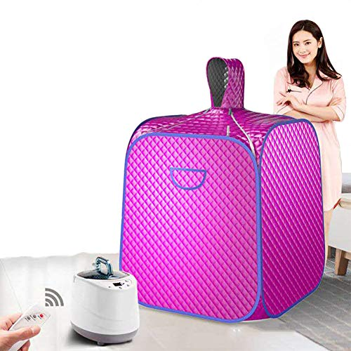 ALY Healthy Steam Sauna Portable Spa Room Home Beneficial Full Body Slimming Folding Detox Therapy Steaming Sauna Cabin Bathtub,Purple