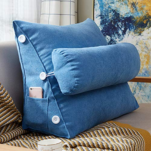 GJBHD Large Lumbar Support Cushion Seat Cushion,Premium Comfort Cushion Pad Back Cushion Sciatica Back Pain Relief-i 45x25x50cm(18x10x20inch)