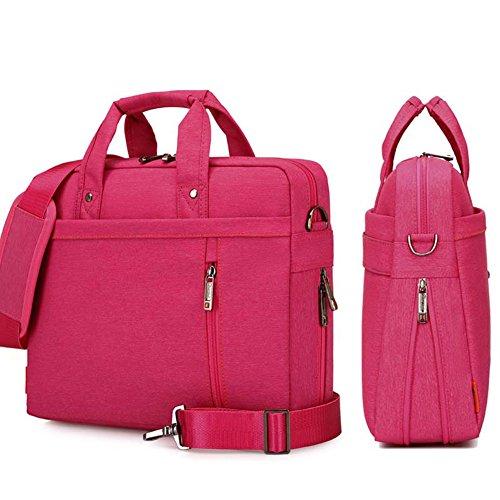 YiYiNoe Shoulder Bag for 17 inch Laptop Business Briefcase Waterproof Messenger Bags Hot Pink