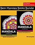 Mandala Coloring Book: Best Mandala Books Bundle Vol. 1 & 2: Coloring Books For Adults, coloring books for adults relaxation, Meditation Coloring Book for adult