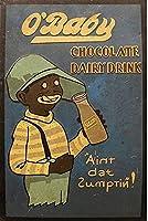 メタルサインチョコレート乳製品ドリンクヴィンテージスタイルメタルサインアイアン絵画屋内 & 屋外ホームバーコーヒーキッチン壁の装飾 8 × 12 インチ