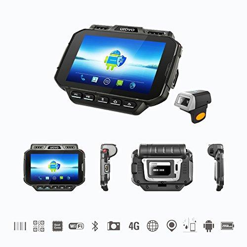 Ordinateur mobile robuste,Terminal de données portable,Scanner de code barres d'anneau de Bluetooth,Android 5.1, IP65,4G, GPS,Caméra 8MP