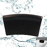 JinSu Wasserdichtes PU Badewannenkissen, Ergonomische Home Spa-Kopfstütze, Unterstützung für Hals und Kopf mit Rutschfesten Saugnäpfen (305 * 160 mm)