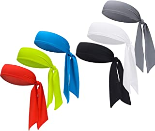 DEMIL Sports Headband - Head Tie Tennis Tie Hairband - Sweatbands Headbands Wristbands Head Wrap - Ideal for Working Out,Tennis