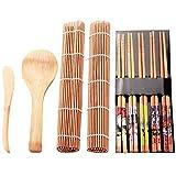 wivarra 9 Unids/Conjunto de DIY Conjunto de Sushi Fabricante Molde de Arroz Cocina Kit de Herramientas para Hacer Sushi Molde Herramientas Set para Sushi Rollo Herramientas de Cocina