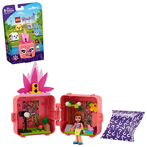 LEGO Friends Olivia's Flamingo Cube 41662 Building Kit; Includes Flamingo Toy and Mini-Doll Toy; Portable Playset Makes Great Creative Gift, New 2021 (41 Pieces)