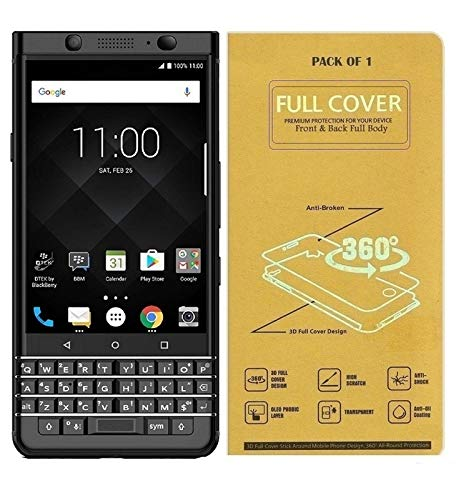 Blue Blood® 360° Buff Guard [Front + Back + Camera Lens] [Not Tempered Glass] Full Body Coverege Screen Protector for BlackBerry Keyone − List 1261